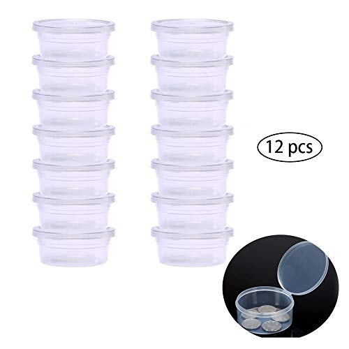 12 Pcs Perlen Aufbewahrungs Behälter Mini Kunststoff Aufbewahrungsbehälter Mit Deckel Kleine Transparente Stapel Box Kleine Plastikbox Runde Kunststoffbox Mit Deckel Für Schmuckzubehör Kleine Artikel