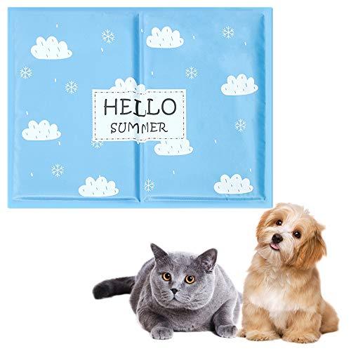 Youyababay Colchoneta Refrescante para Perros Y Gatos - Colchoneta De Enfriamiento para Mascotas 90X60cm - Colchoneta Autoenfriante con Diseño De Hueso,S