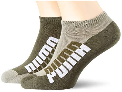 PUMA Mens Men's Seasonal Sneaker-Trainer (2 Pack) Socks, Green, 43/46