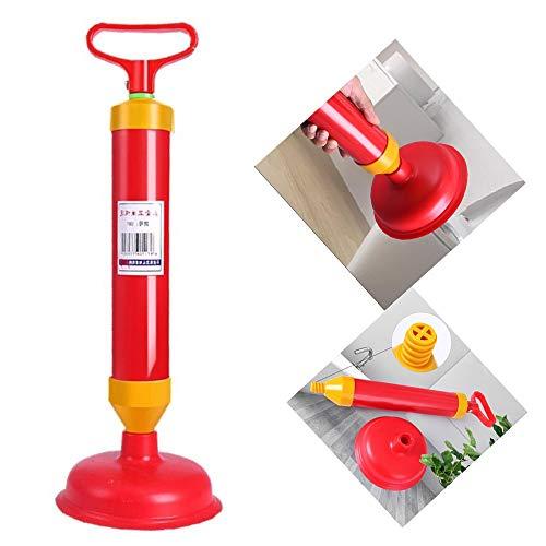 MAOX WC émbolo de la Bomba de Drenaje aerodinámico de Alta presión Limpiador Fuerte Manual de residuos de tuberías Unblocker con la Herramienta de Limpieza de tuberías 2 Tipo de ventosas