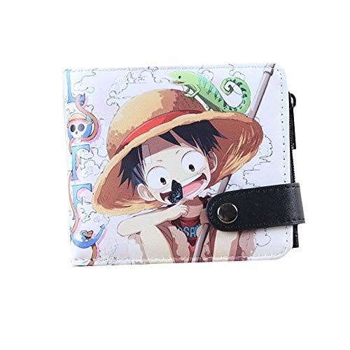 Veedyin Abaddon Anime Leather Wallet With Attached Flip Pocket Cosplay Bag for Men Women Boys (ONE PIECE)