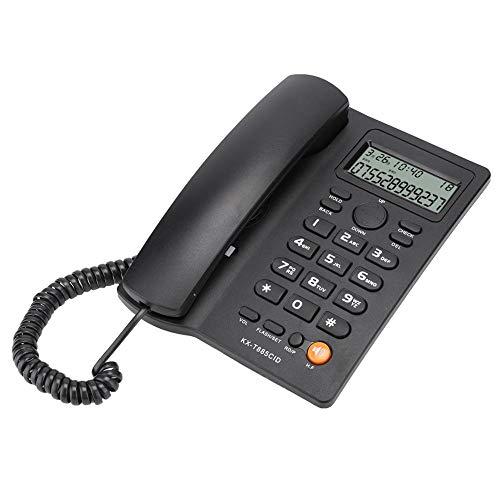 Fdit Schnurgebundenes Telefon, Festnetztelefon mit Anrufer-ID und Freisprechen für den Einsatz im Home Office Hotel (20 x 21 x 6 cm)(Black)