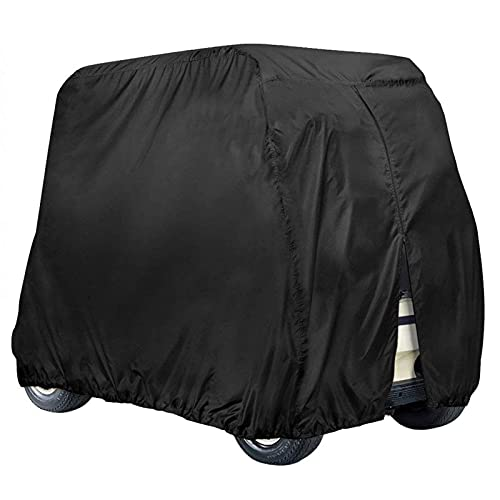 NEVERLAND Golf Cart Cover 4 Passenger,Waterproof Golf Cart Cover for EZ GO Club Car Yamaha Golf Carts, Sunproof Dustproof 4 Seat Club Car Cover (Up to 112 Inch)