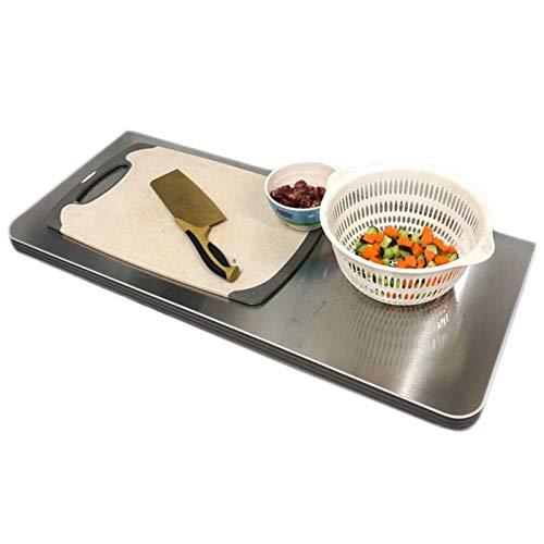 GHHZZQ Mesa Plegable de Pared Acero Inoxidable Consola de Pared Escritorio Plegable Ahorro de Espacio por Cocina/Dormitorio/Comedor (Color : Silver, Size : 70x40cm)