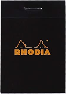 Rhodia Notepad, No10 A8, Squared - Black