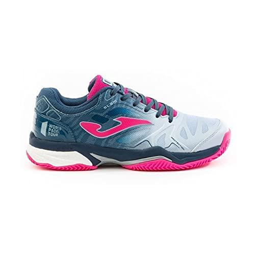 Joma T.Slam Lady 2004 Azul-Fucsia Clay, Running Shoe Mujer, 38 EU