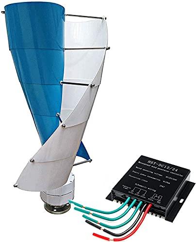 Generador de turbina de energía eólica en espiral vertical, aerogenerador de eje de levitación magnética de hélice de 8000 W, generador de viento de 12 V / 24 V / 48 V para jardín (12V)