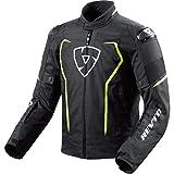 REV'IT Revit Vertex H2O deportivo Hombre textil Chaqueta–Negro Neon Amarillo