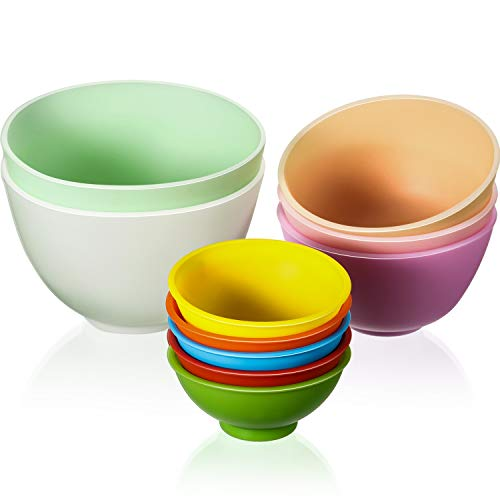 10 Pieces Mini Silicone Pinch Bowls Multicolored Silicone Condiment Bowls Reusable Snack Bowls Silicone Mixing Bowls for Sauce, Appetizer, Snacks, Honey, Baking Soda, Melt Chocolate, Ice Mold