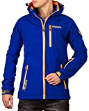 Geographical Norway Bans Production - Chaqueta softshell con capucha desmontable para hombre azul real L