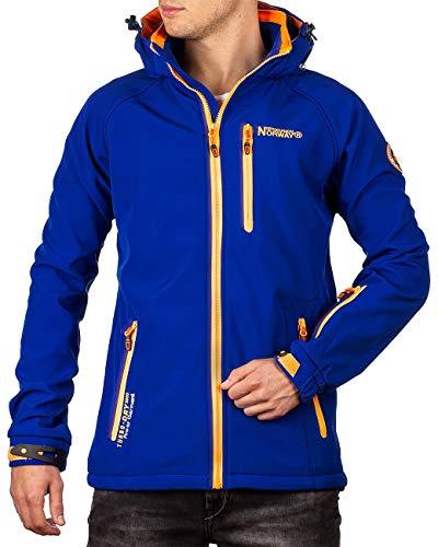Geographical Norway Herren Softshell Jacke mit Abnehmbarer Kapuze Royal Blue M