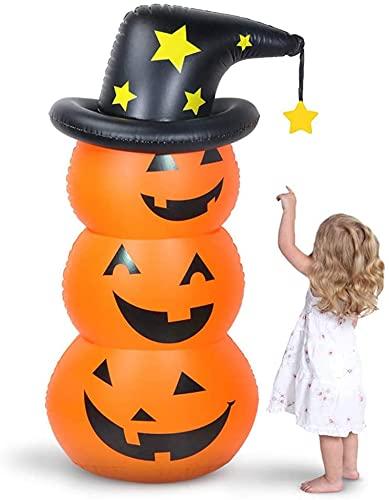 AYYDS Calabaza hinchable para Halloween, terrorífica, juego de decoración de Halloween, accesorios para Halloween, calabaza, globos para Halloween y carnaval