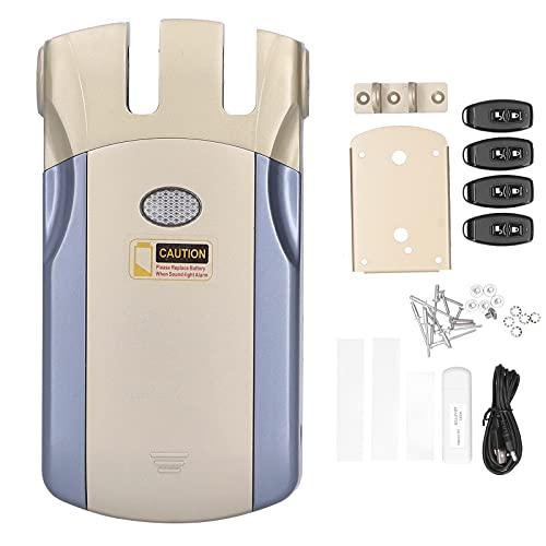 Gedourain Keyless Electronic Lock, WAFU 019 Fernbedienungsschloss, hochwertiges Keyless-Türschloss aus Zinklegierung, Smart WiFi Invisible Anti-Theft Device für TUYA Home Safety