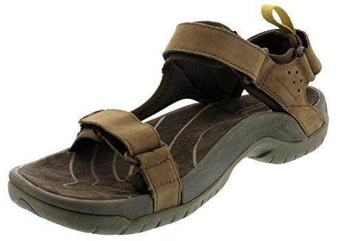Teva Tanza Leather M's Herren Sport- & Outdoor Sandalen, Braun (brown 556), EU 39.5