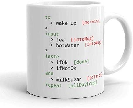 Code Tea Computer Programmer Tea Cup Tea Mug Coffee Mug FREE UK Delivery Ships Worldwide Coding product image