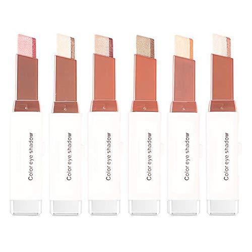 Gradient Eyeshadow Stick Bicolors One Glide Lazy Eyeshadow Makeup Wasserdicht (#102)