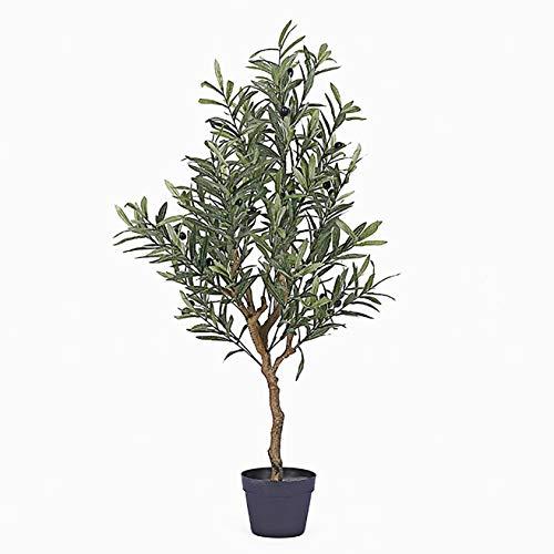LBHE Künstliche Bäume,Nordischer Stil Olivenbaum Simulation Topfpflanzen,Wohnzimmer Innere Balkon Grüne Pflanze Zuhause Dekoration,1.2m