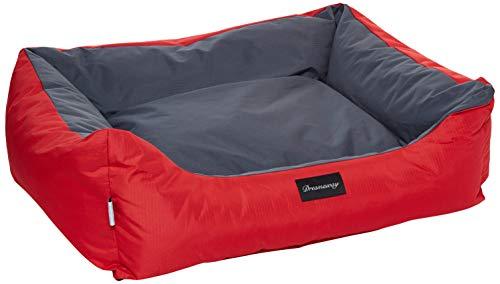 Fabotex Petit Sofa Boston Urbain Rosso-Antracite 120X100X28 per Cani E Gatti, Multicolore, Unica