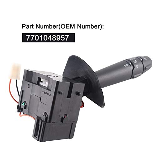 Mrwzq Interruptor de la Ventana del Lado del Conductor For Adaptarse a la Columna de dirección de Renault Kangoo I Clio II luz indicadora de Palanca del Volante 7701048957