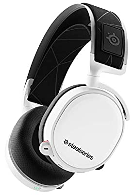 SteelSeries Arctis 7, Wireless Gaming Headset, DTS Headphone: X v2.0 Surround for PC and PlayStation 4, White by STEELSERIES
