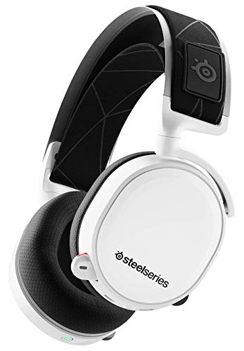 SteelSeries Arctis 7 - Casque de Jeu sans Fil et sans Perte - Son Surround DTS Headphone:X v2.0 pour PC et PlayStation 4 - Blanc