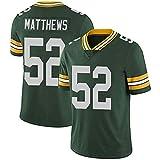 WLLIT NFL Football Jersey Packers # 12 Rodgers 52 21 87 Nelson Camiseta de fútbol de Manga Corta Para Hombre, Camiseta Deportiva de Manga Corta-C2-XXXL