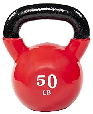 BalanceFrom Vinyl Coated Kettlebelll 50lbs from BALANCEFROM