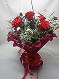 Rosa eterna roja. Rosa preservada roja. Envío Prime. Ramo de Rosas Rojas (6 Rosas). Ramo de Rosas...