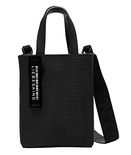 Liebeskind Berlin Paper Bag Tote, Extra Small (17 cm x 13 cm x 5cm), black