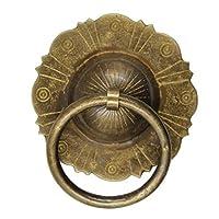 ドアノッカー、ヴィンテージ銅ドアバックルハンドル、ドア装飾銅ハンドル、取り付けが簡単(色:ブロンズ、サイズ:11.5CM)