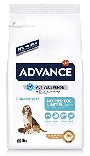 ADVANCE Mother Dog & Initial - Pienso Para Perras Embarazadas o Lactantes y Cachorros De Todas Las Razas - 3 kg