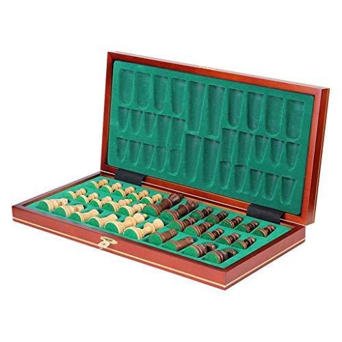 Ajedrez, Tablero de ajedrez Juego de ajedrez de madera magnético Tablero grande magnético plegable Piezas de ajedrez Interior para almacenamiento Tablero de viaje portátil Gam (juego de ajedrez)