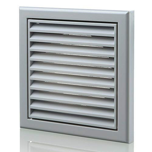 100 mm Robust Outside Wall Hole Cover Vent Fitting with Fly Screen for Caravan Shed Bathroom Shower Kitchen Garage Shed for Air Circulation Odour Removal Extractor Fan Cooker Hood Oven Vent