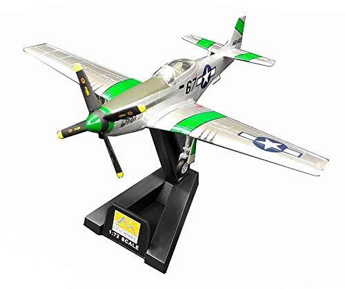 Sólido 1:72 militar Modelo aeronaves, la Segunda Guerra Mundial EE.UU. P-51 de combate final Model, Collectibles (veces 6inch; 5.5inch) (Color: P51D / 37392) Interesante ( Color : P51d/36300 )