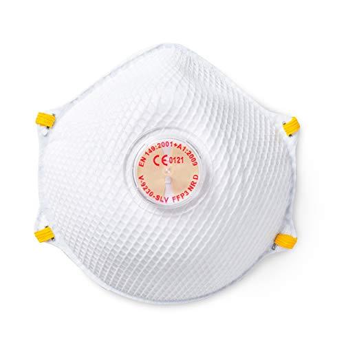 SolidWork 5er Set FFP3 Cup Atemschutzmasken | Wiederverwendbare Masken für Mund- und Nasenschutz | Einzeln verpackte Schutzmasken | Feinstaubmaske, Staubschutzmaske, Staubmaske