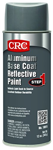 CRC 18015 Reflective Paint, Base Coat, 12 WT oz, 16 fl. oz. Aerosol, Aluminum