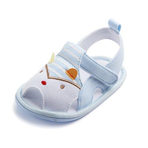 ARAUS Sandali Scarpine Primi Passi Da Neonato Bimba Antiscivolo Estiva Scarpe Velcro Per Prima Infanzia