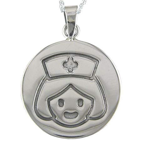 Alylosilver Collar Colgante Regalo Mejor Enfermera de Plata para Mujer. Incluye una Cadena de Plata de 45 cm. y un Estuche para Regalo