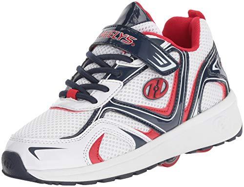 Heelys Boys' Rise X2 Tennis Shoe, White/Black/Red, 13c M US Little Kid