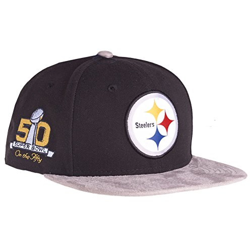 New Era Pittsburgh Steelers SB50 Suede Vize On The Fifty Snapback Cap 9fifty