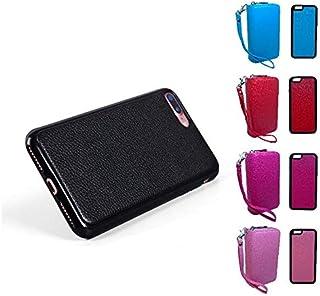 BerryKing Portemonnaie Portmonee Geldbörse mit iPhone Hülle Magnet Case abnehmbar PU-Leder iPhone 6, 6S, 6 Plus, 6S Plus, 7, 7 Plus (iPhone 7 Plus, Rosa)