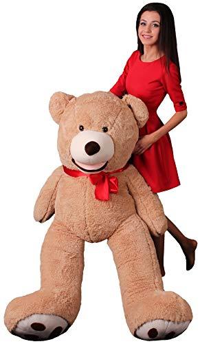 Oso Peluche Gigante 160 cm - Peluches Para Bebes - Peluches Gigantes Osos - Giant Teddy Bear - Osos de Peluche Gigantes - Regalo de Cumpleaños, Regalos Originales Para Una Novia - Marrón
