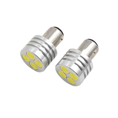 sourcing map 2pcs Ampoule Marche arrière 1157 LED Blanc Chaud 4 S/N butée arrière Voiture