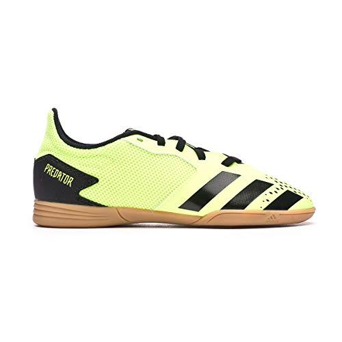 adidas Predator 20.4 IN Sala Niño, Zapatilla de fútbol Sala, Signal Green-Core Black, Talla 5.5 UK (38 2/3 EU)