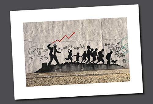 HighDefWallArt Unframed Banksy Street Graffiti Stock Market Whip Giclee Canvas Print Ready to product image