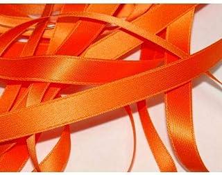 CaPiSo/® Ruban de Satin 4 cm D/écoration de No/ël Ruban Ruban Ruban Cadeau Ruban de d/écoration Orange Fluo