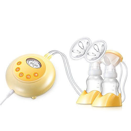 IREALIST Double Electric Breast Pump Automatic Double/Single Breastfeeding Pump FDA Approved 9 Suction Level Settings Milk Pump Breast Massager
