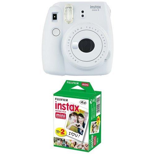 Fujifilm Instax Mini 9 Kamera, smoky weiß mit Film