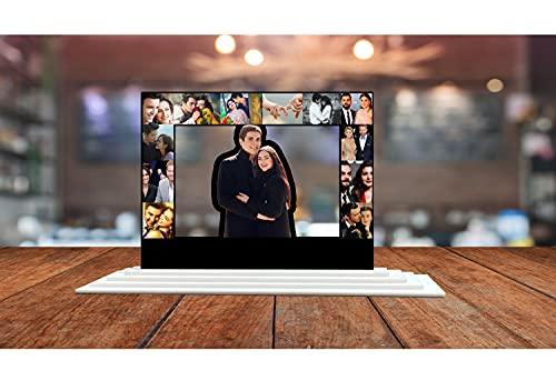 SIGNOOGLE® Customized Personalized Gift Acrylic Table Top Photo Frame Photo College with Your Name and Photo 18 X 12 Inches