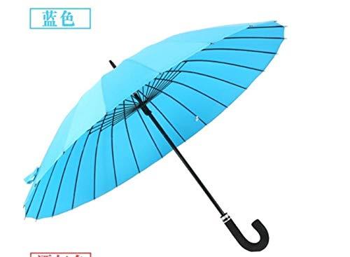 IDJ Regenschirm für Herren, groß, winddicht, Glasfaser-Rahmen, langer Griff, Regenschirm für Damen, Blau